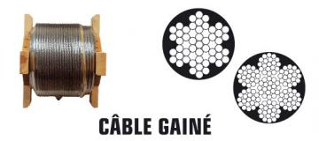 CABLE 7X19 Gainé PVC Long: 100M
