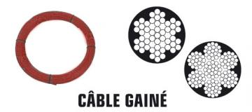 CABLE 7X19 Gainé PVC Long: 10M